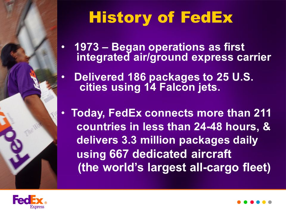 History of FedEx (the world's largest all-cargo fleet)