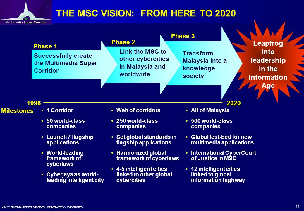 THE MSC VISION: FROM HERE TO 2020