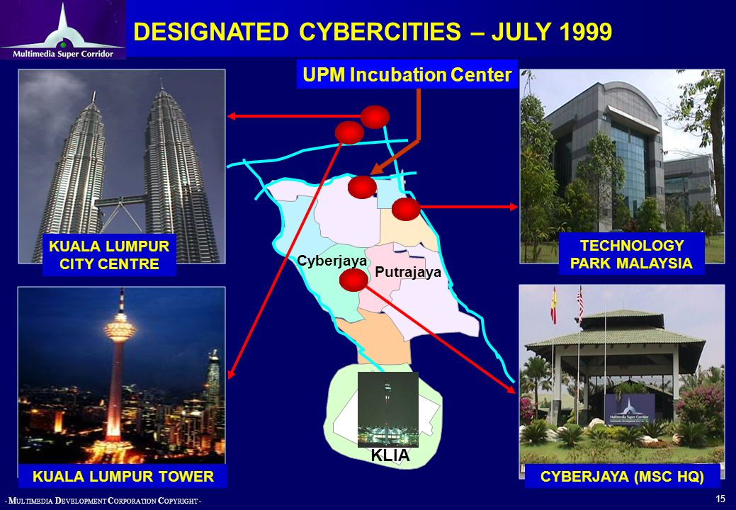 DESIGNATED CYBERCITIES – JULY 1999