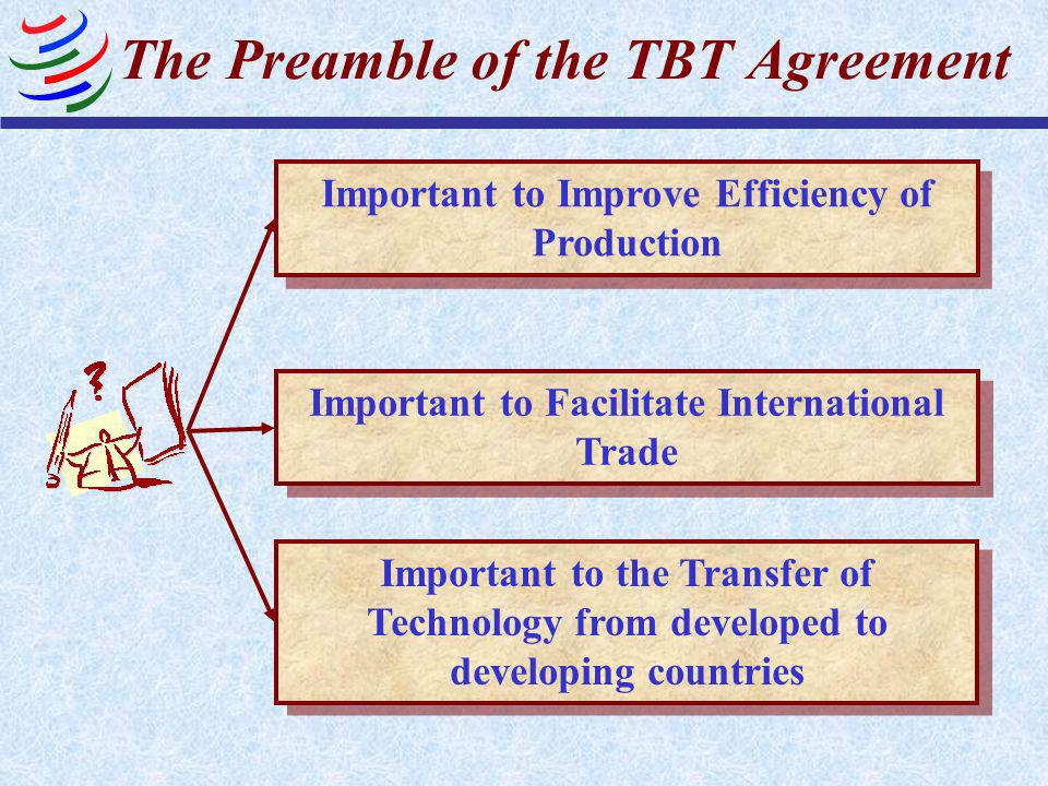 The Preamble of the TBT Agreement