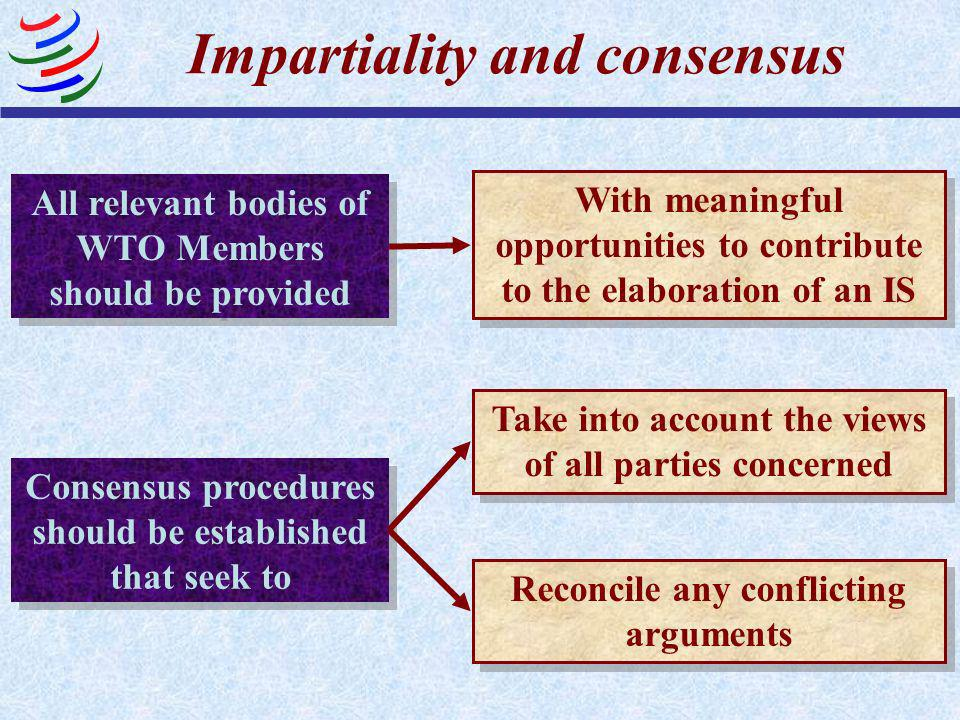 Impartiality and consensus