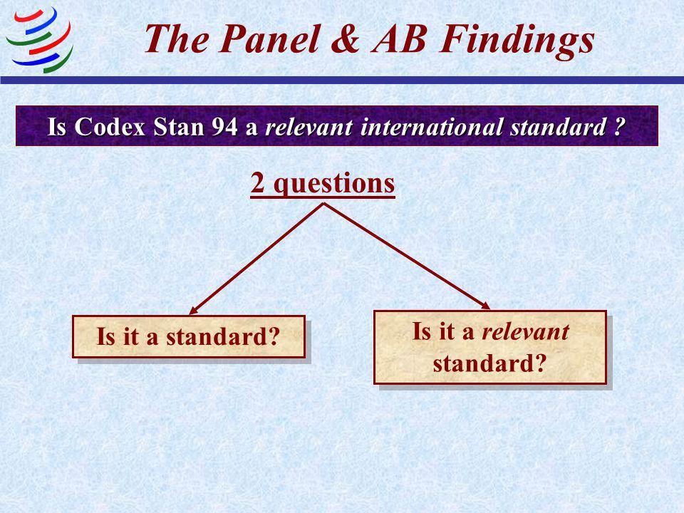 The Panel & AB Findings 2 questions