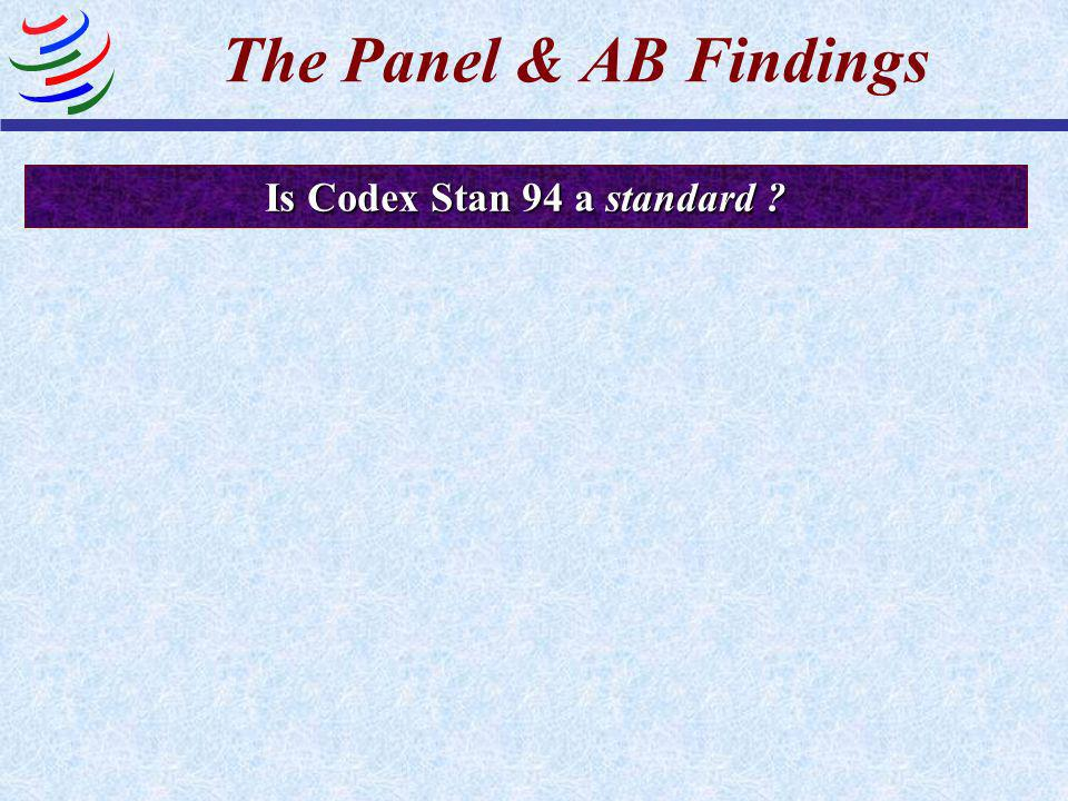 Is Codex Stan 94 a standard