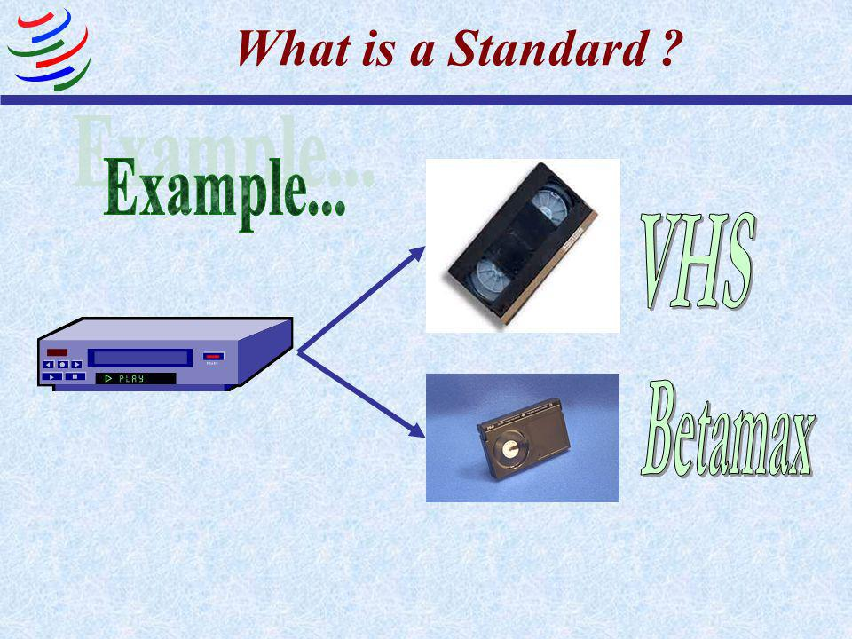 What is a Standard Example... VHS Betamax
