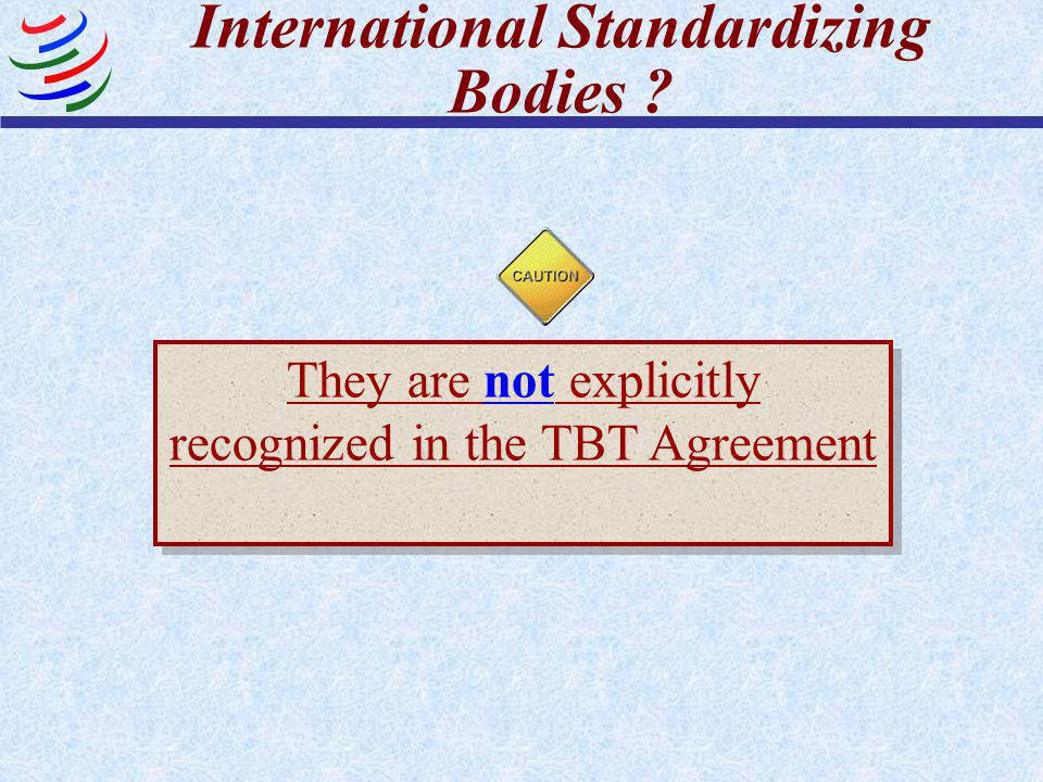 International Standardizing Bodies
