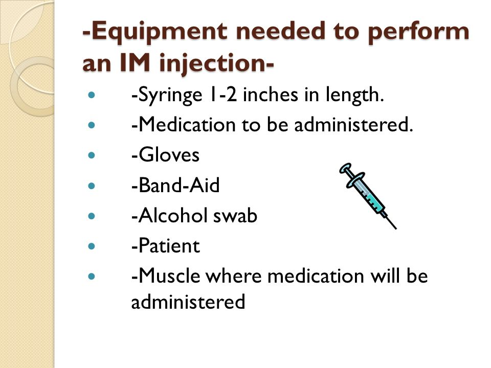 how to give im injection