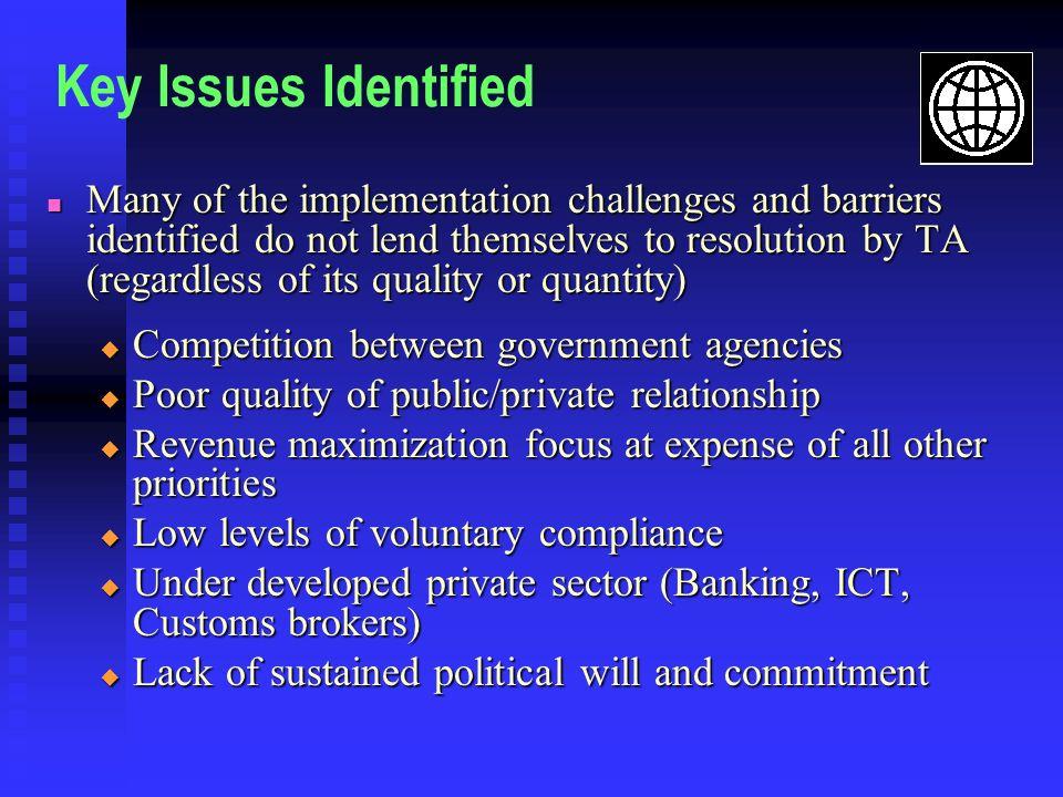 Key Issues Identified