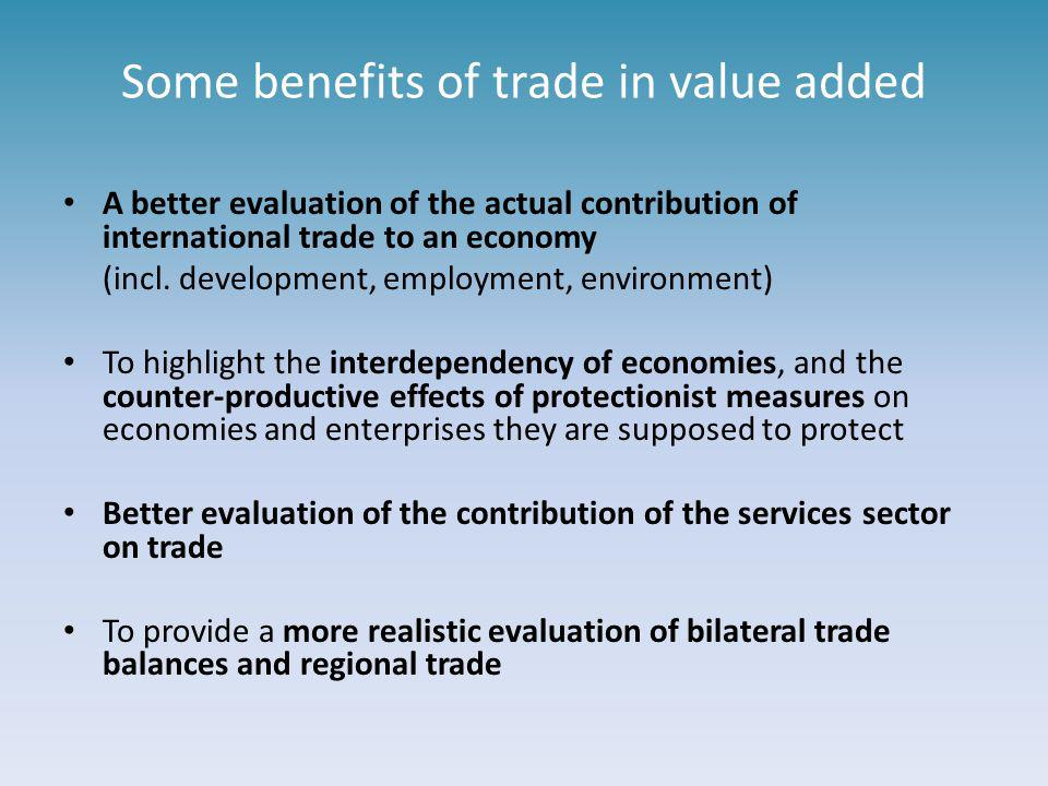Some benefits of trade in value added
