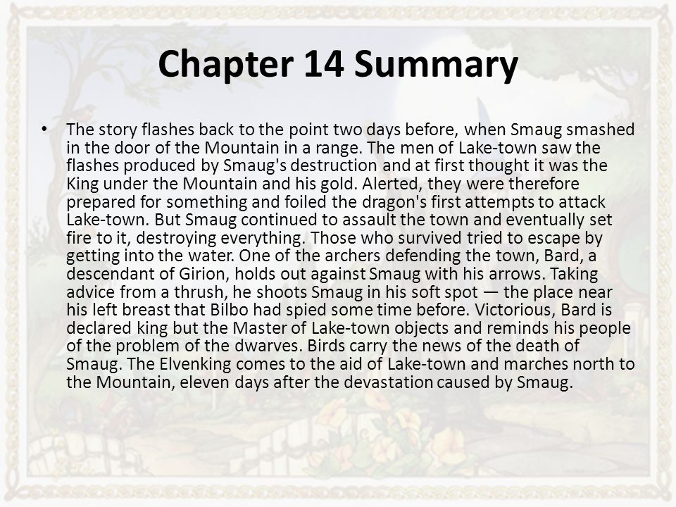 a summary of the story of the hobbit Plot summary of the hobbit by j r r tolkien part of a free study guide by  bookragscom.