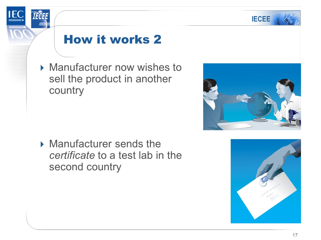 IECEE How it works 2. Manufacturer now wishes to sell the product in another country.