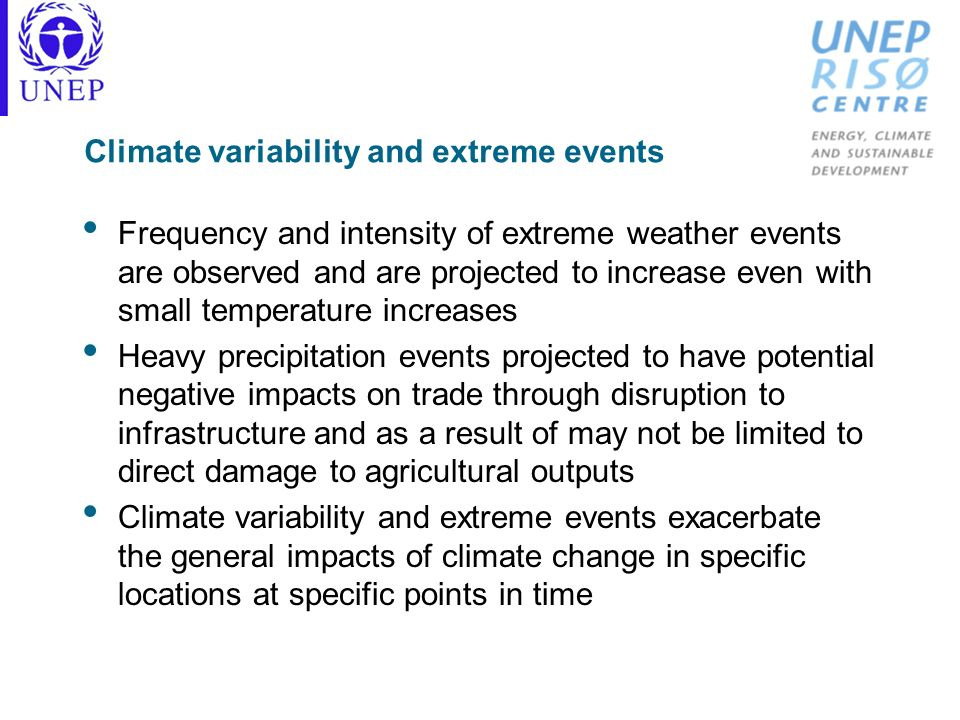 Climate variability and extreme events