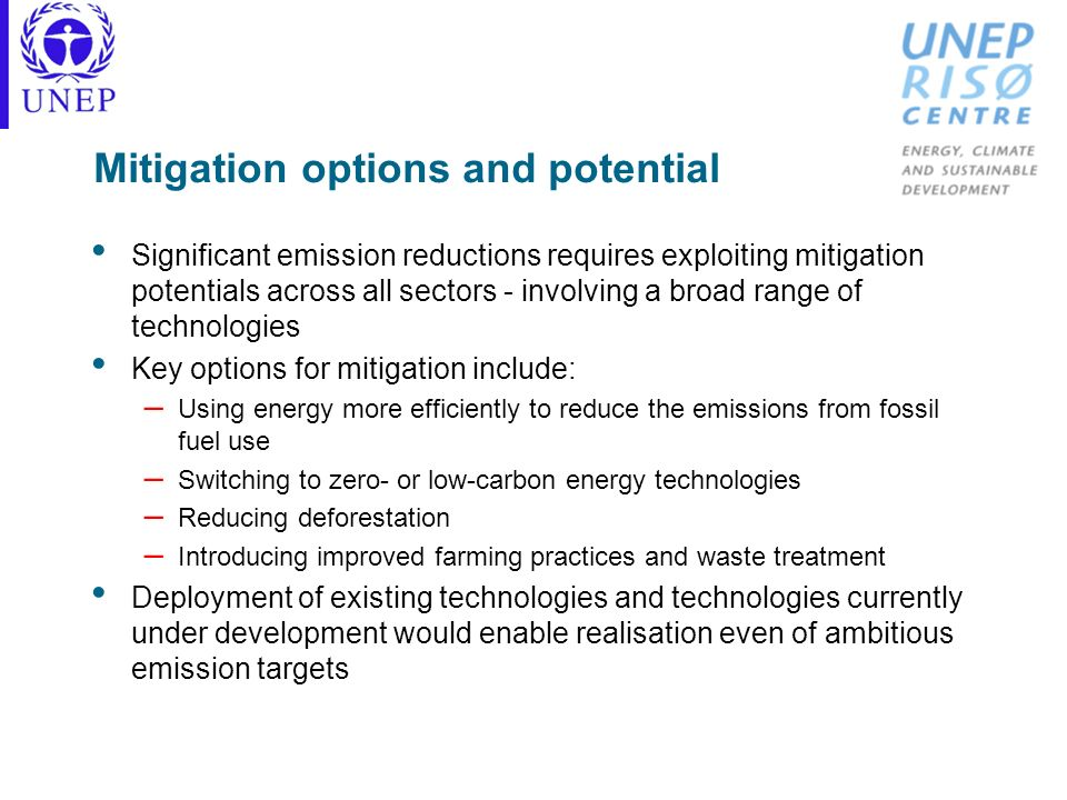 Mitigation options and potential