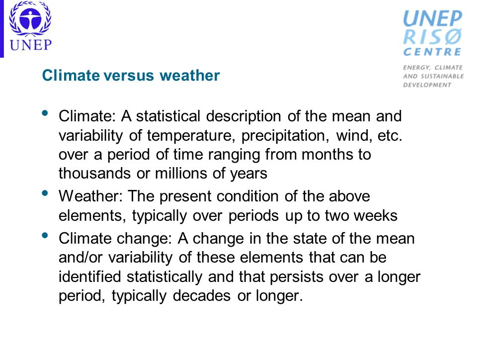 Climate versus weather