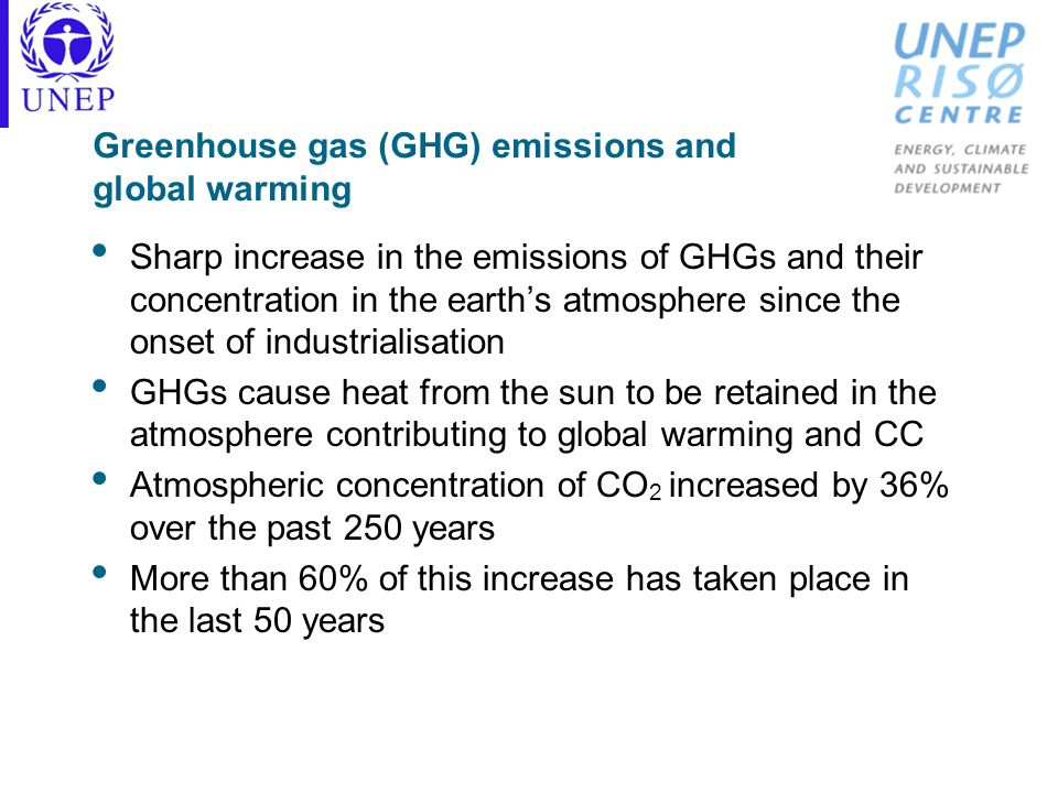 Greenhouse gas (GHG) emissions and global warming