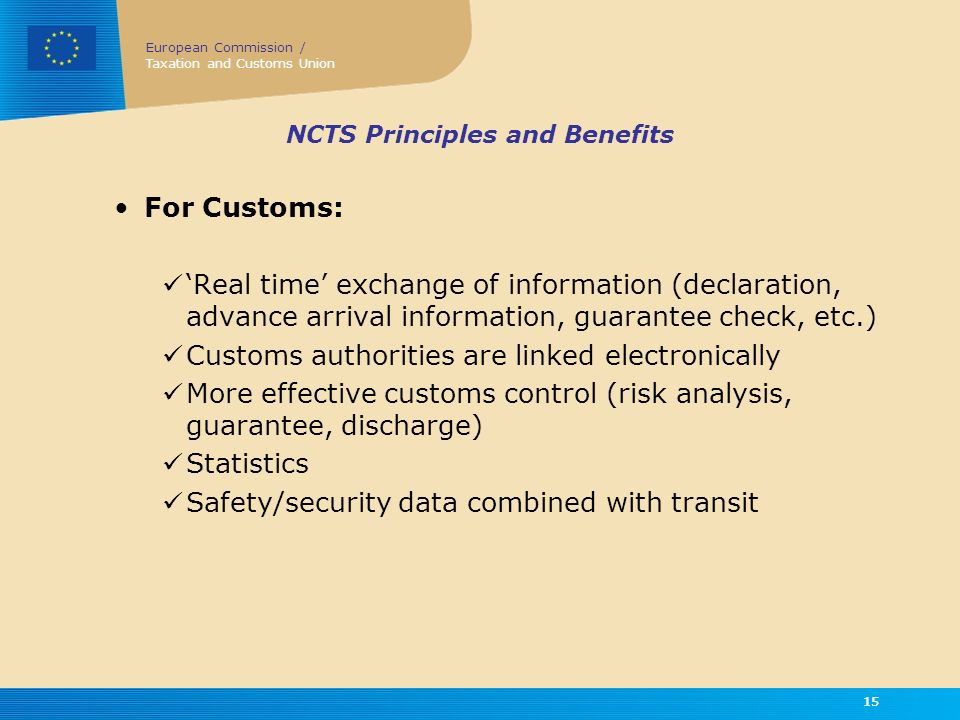 NCTS Principles and Benefits