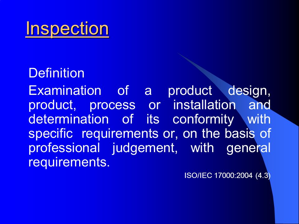Inspection Definition