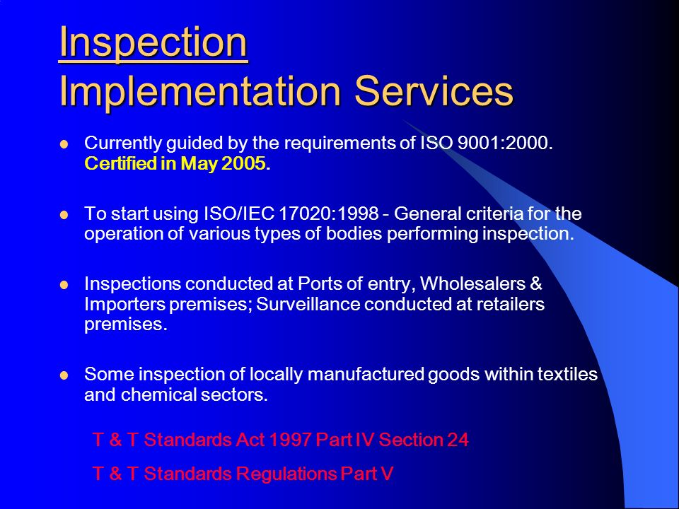 Inspection Implementation Services