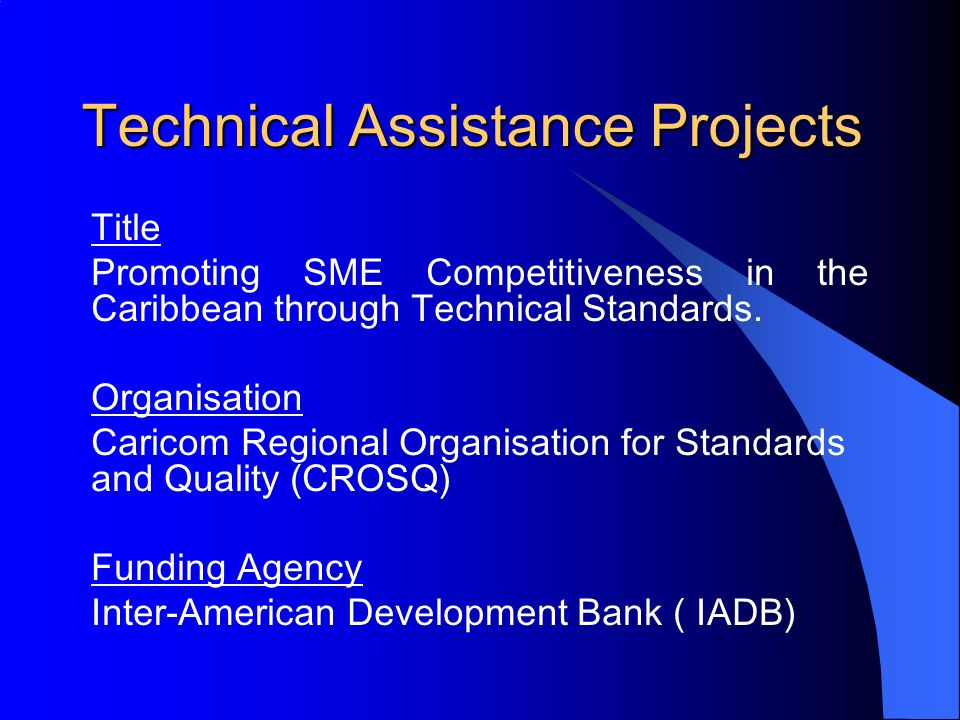 Technical Assistance Projects