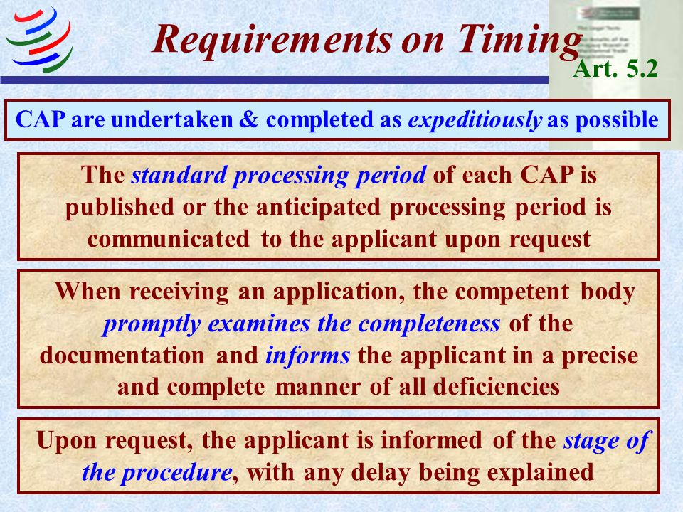 Requirements on Timing