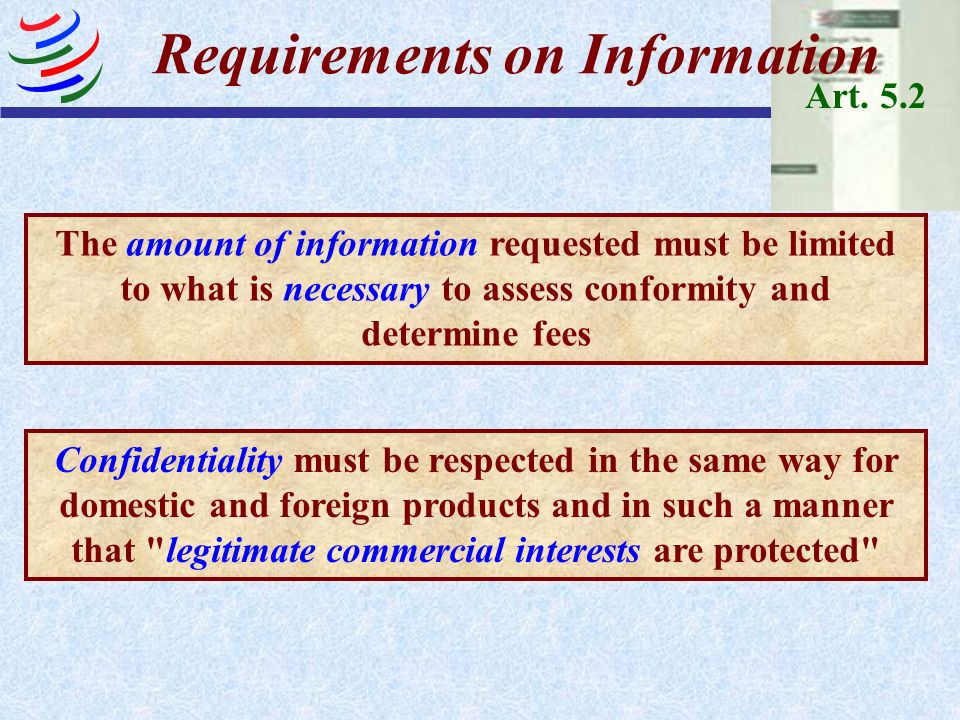 Requirements on Information