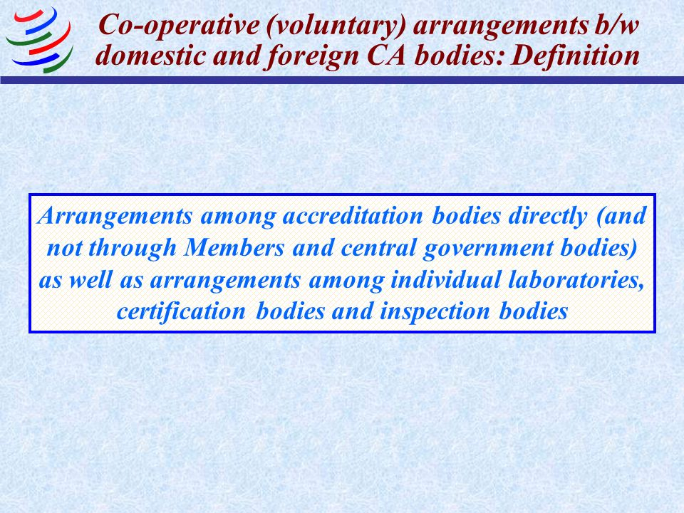 Co-operative (voluntary) arrangements b/w domestic and foreign CA bodies: Definition
