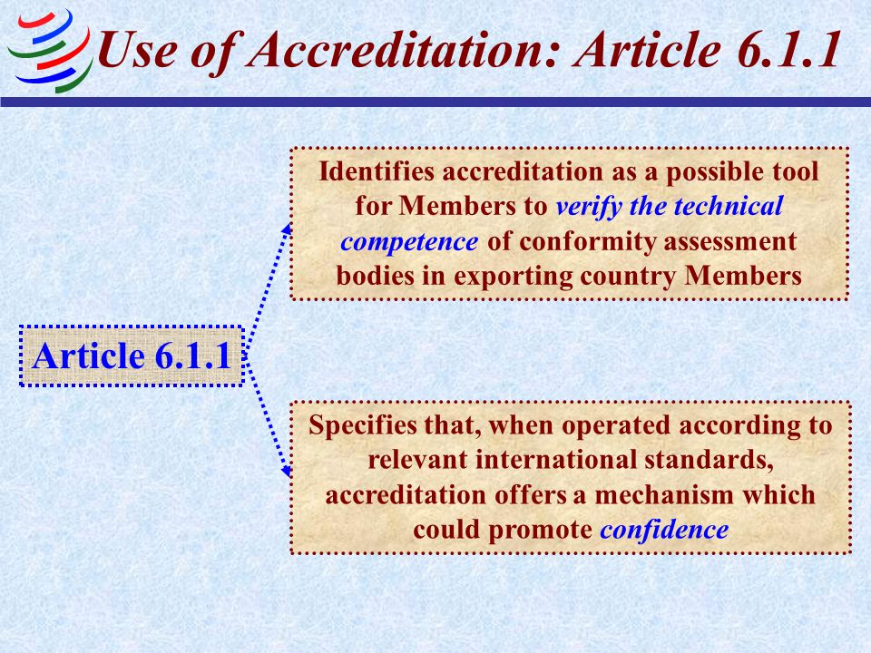 Use of Accreditation: Article 6.1.1