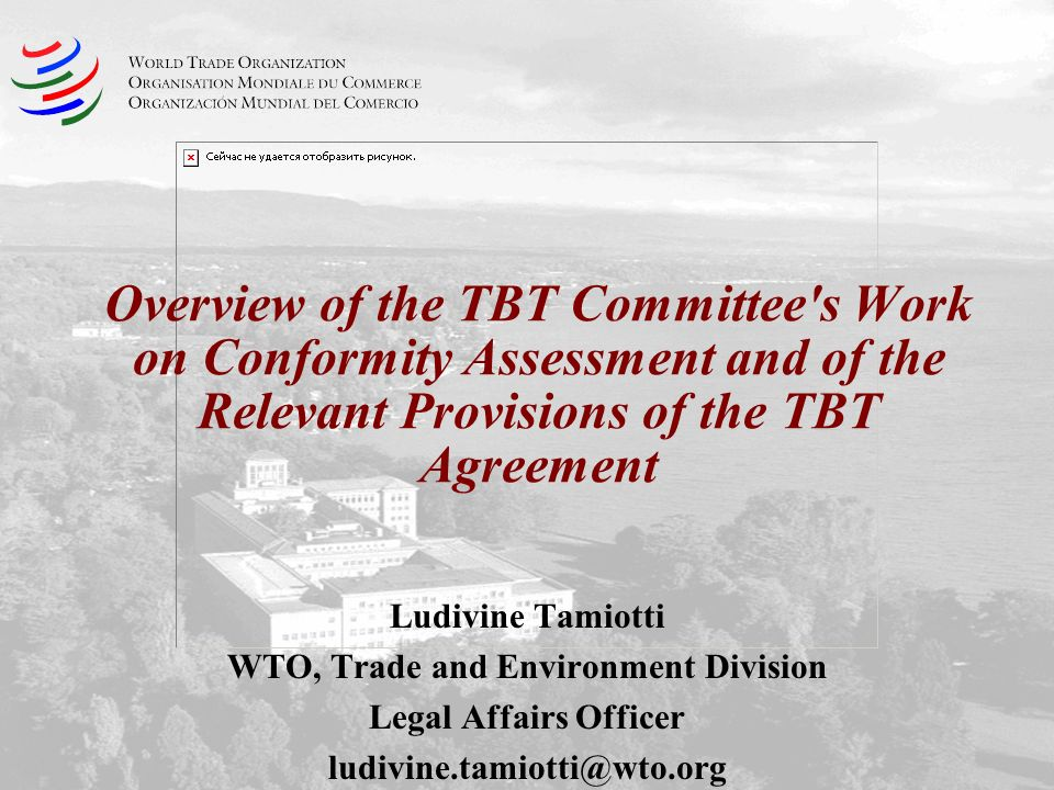 WTO, Trade and Environment Division