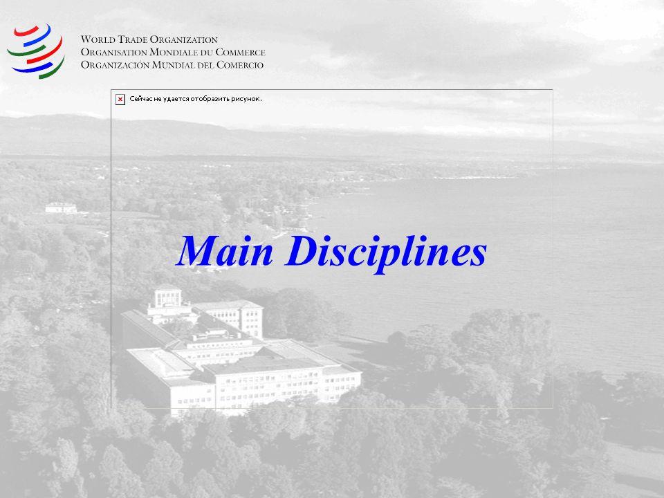 Main Disciplines