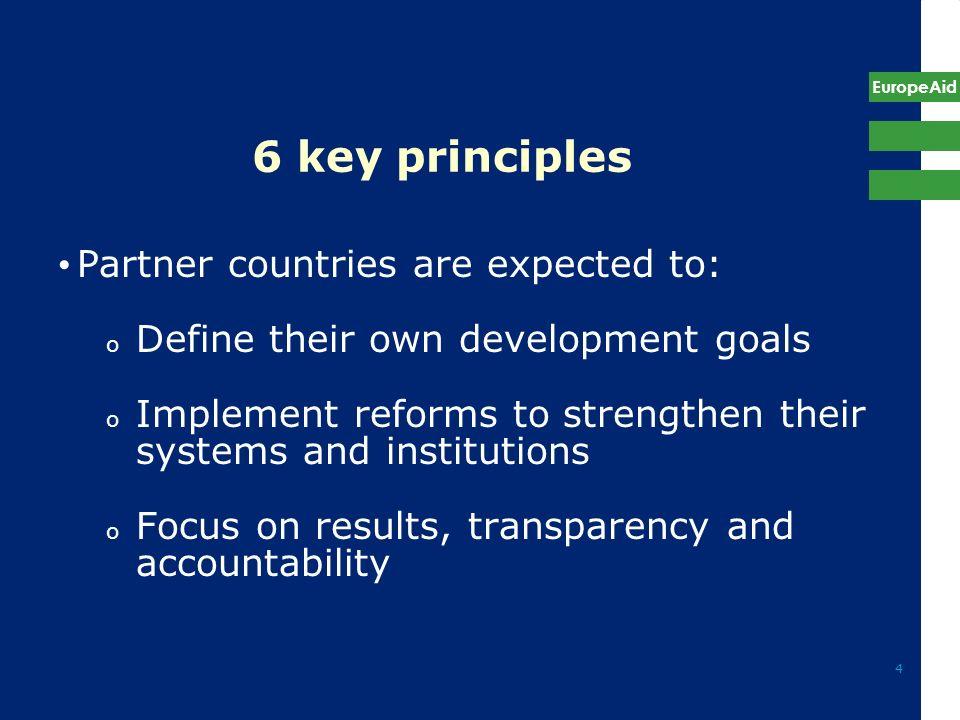 Aid Effectiveness, EuropeAid