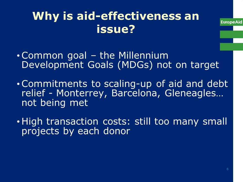 Why is aid-effectiveness an issue