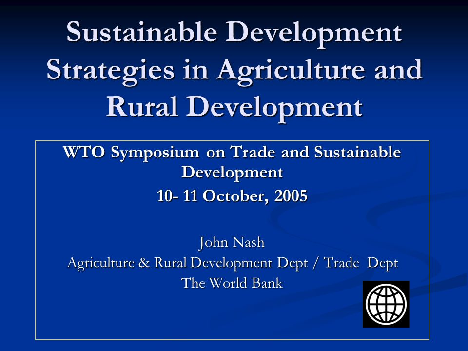 WTO Symposium on Trade and Sustainable Development
