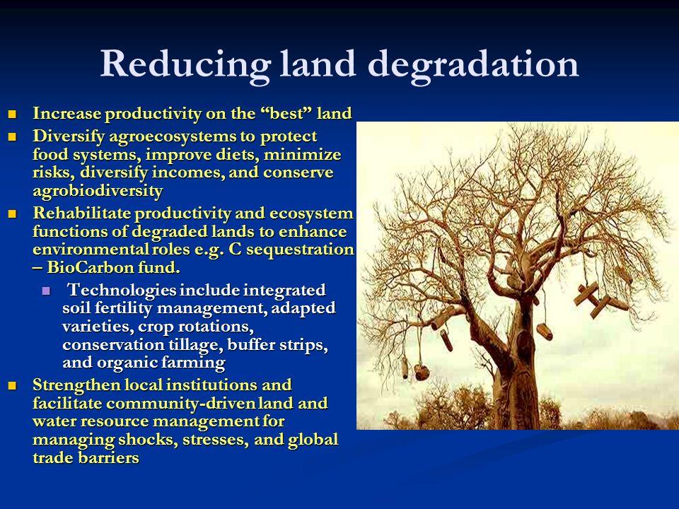 Reducing land degradation