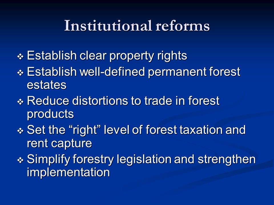 Institutional reforms