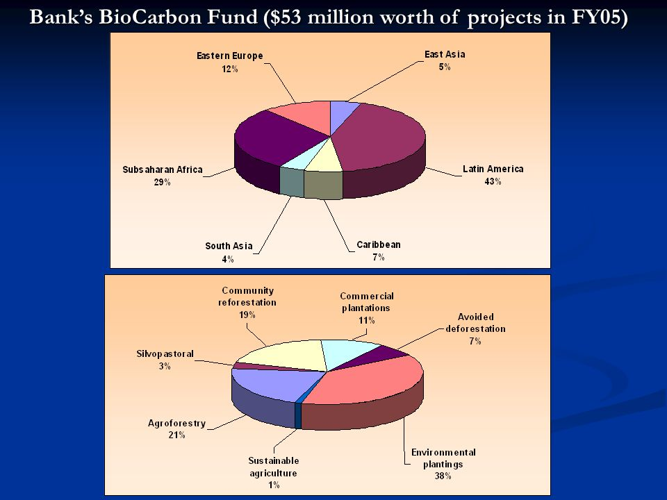 Bank's BioCarbon Fund ($53 million worth of projects in FY05)
