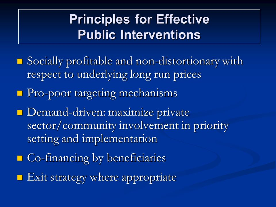 Principles for Effective Public Interventions