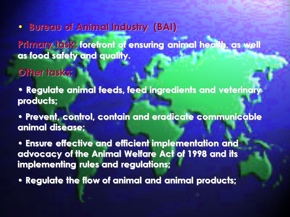 Bureau of Animal Industry (BAI)