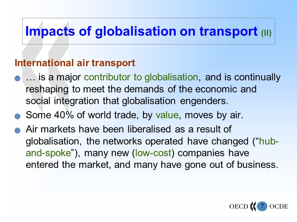Impacts of globalisation on transport (II)