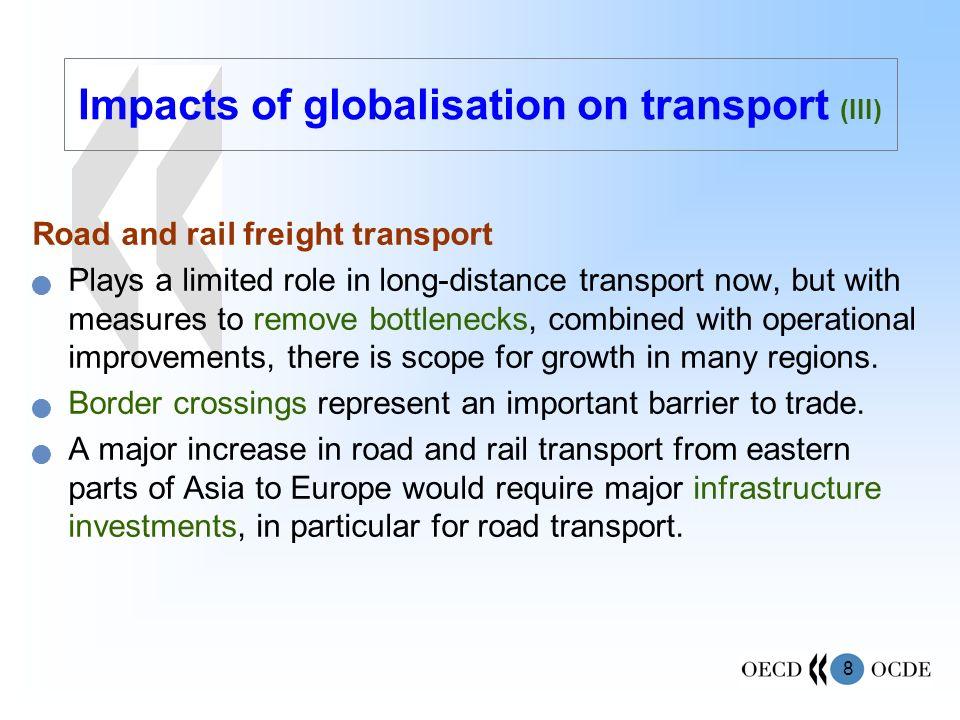 Impacts of globalisation on transport (III)