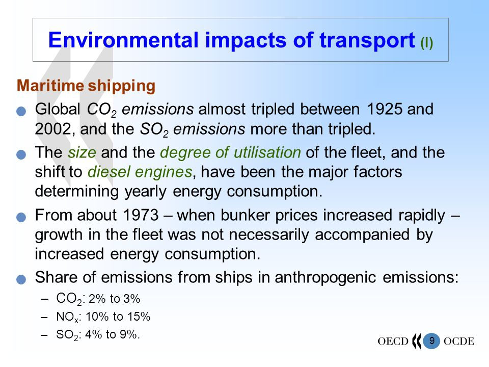 Environmental impacts of transport (I)