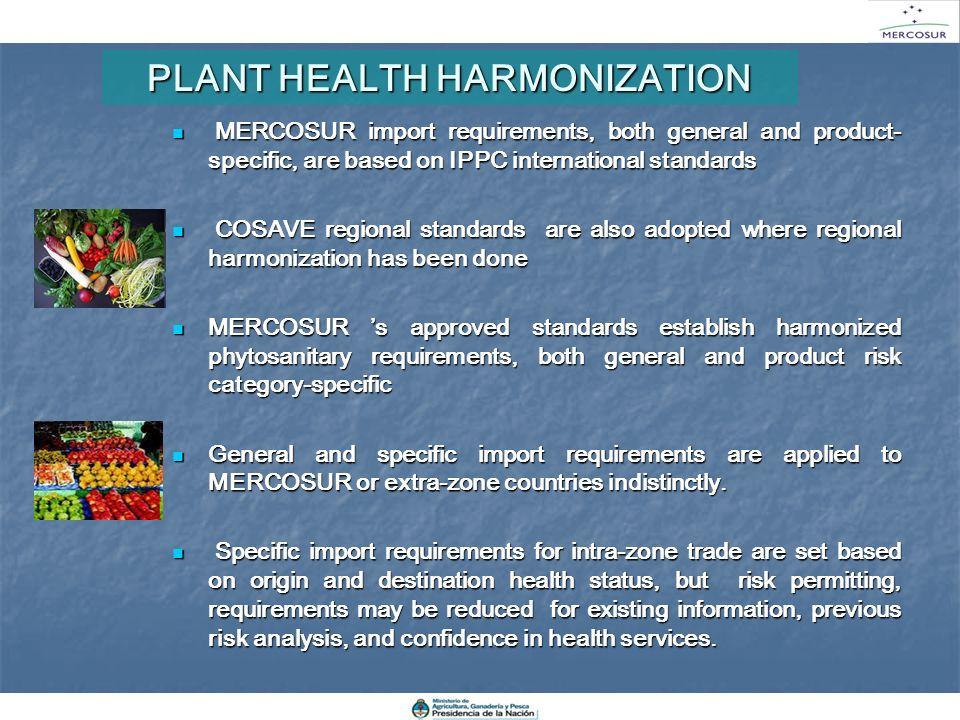 PLANT HEALTH HARMONIZATION