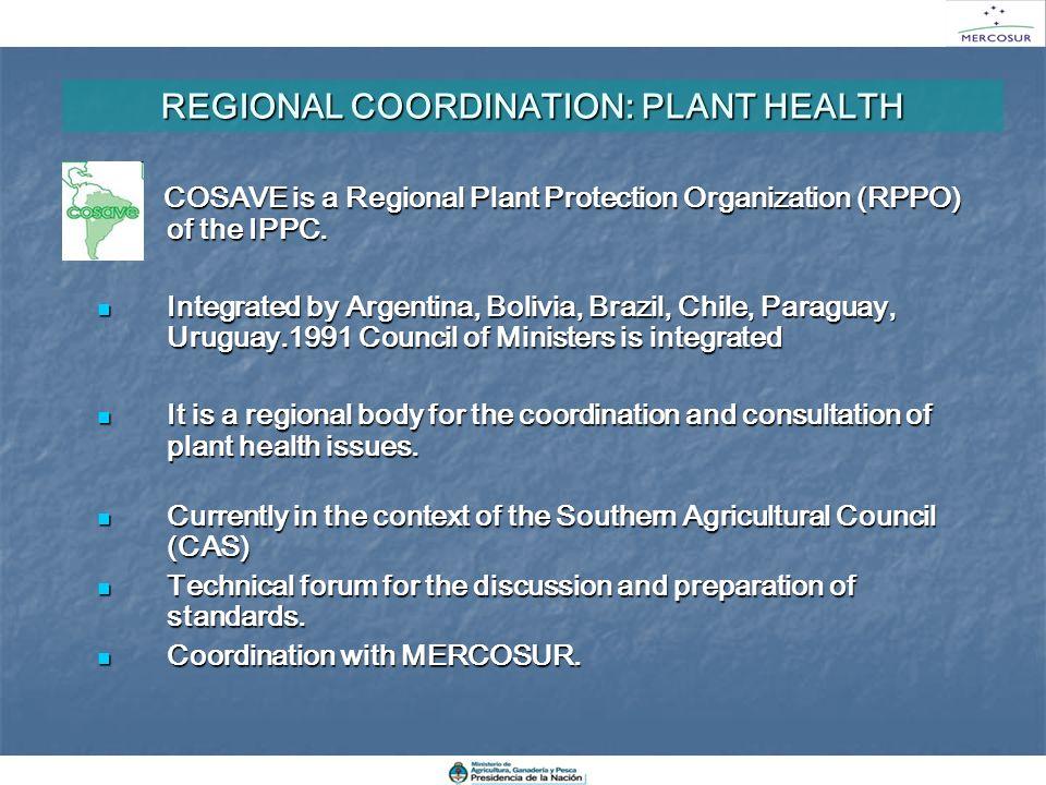 REGIONAL COORDINATION: PLANT HEALTH