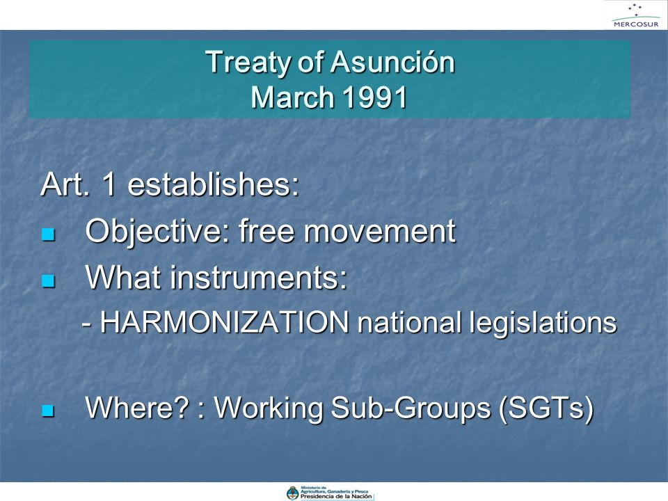 Treaty of Asunción March 1991
