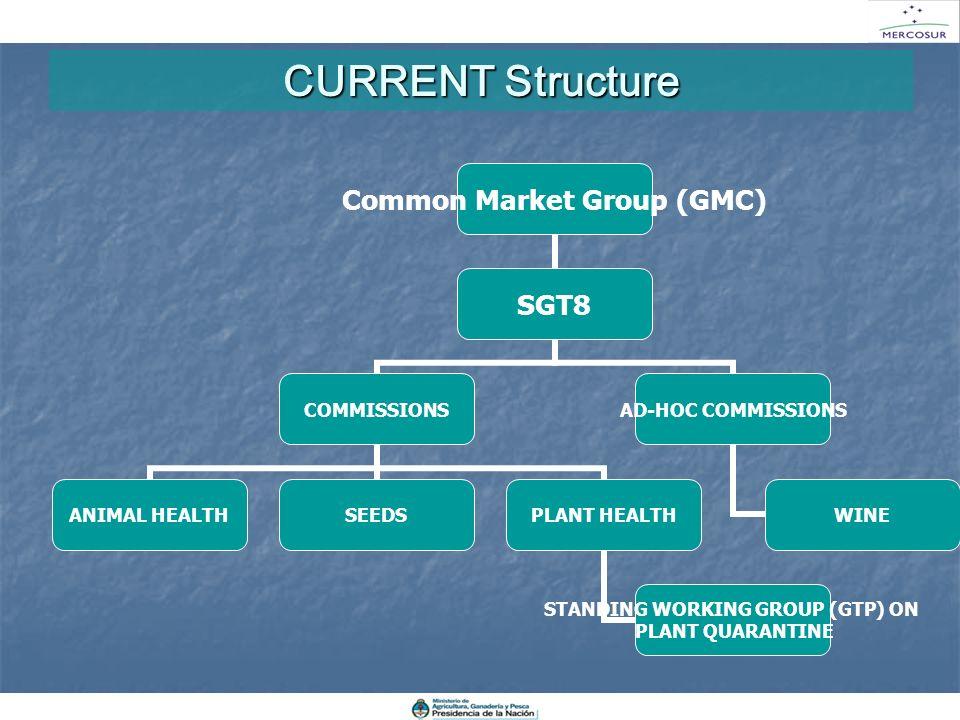 CURRENT Structure La estructura actual de trabajo se mantiene en las comisiones de sanidad animal, vegetal y semillas y el GAH Vitivinícola.