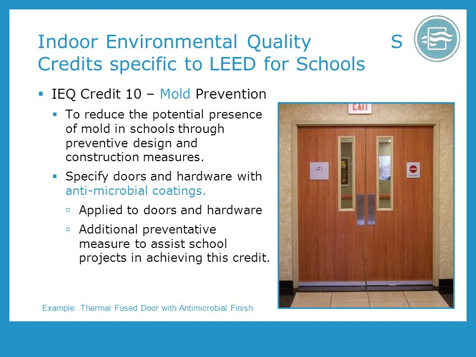 Wood doors and leed program number aa1002 presented by for Indoor environmental quality design