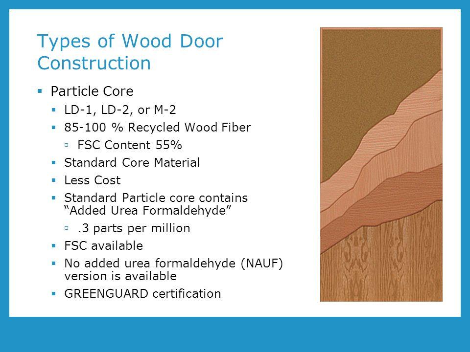 Types Of Back Doors : Wood doors and leed program number aa presented by