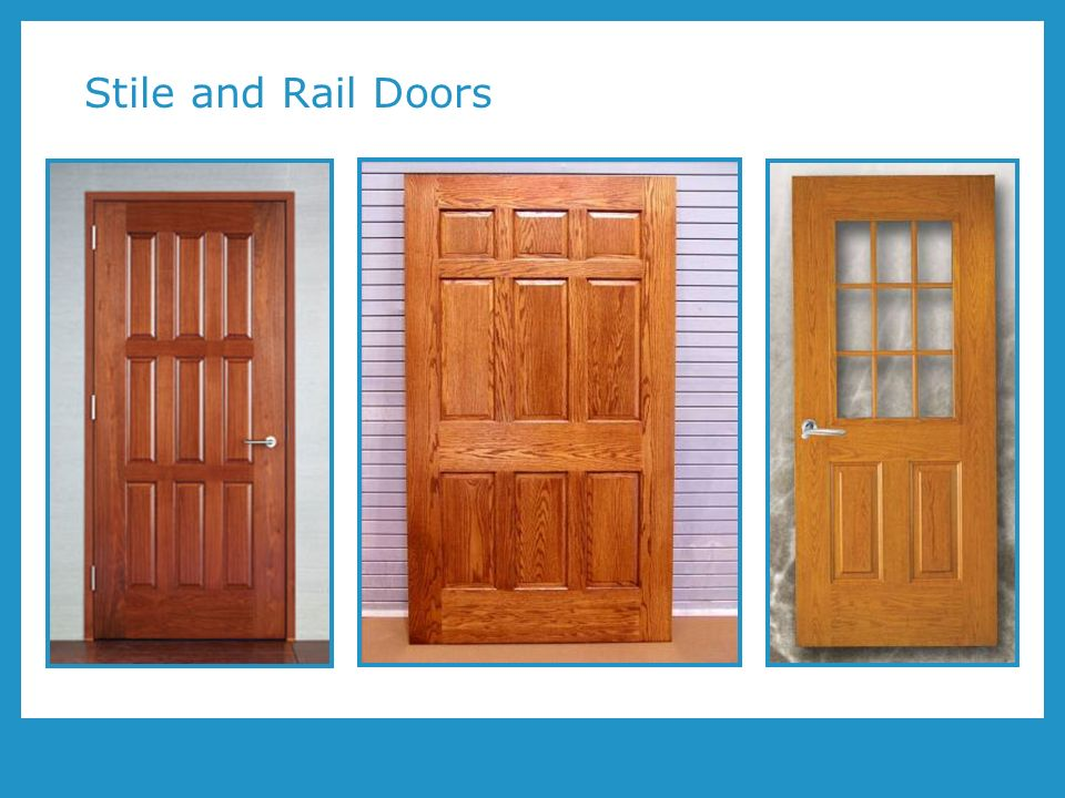 Wood doors and leed program number aa1002 presented by for Wood stile and rail doors