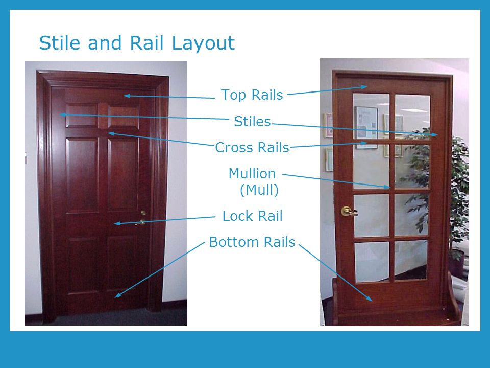 Wood doors and leed program number aa1002 presented by for Door rails and stiles