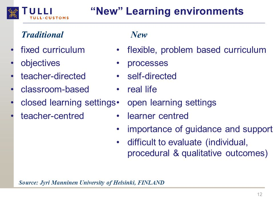 New Learning environments