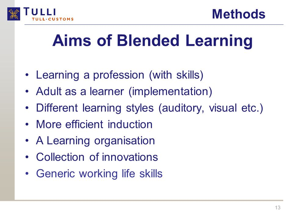 Aims of Blended Learning