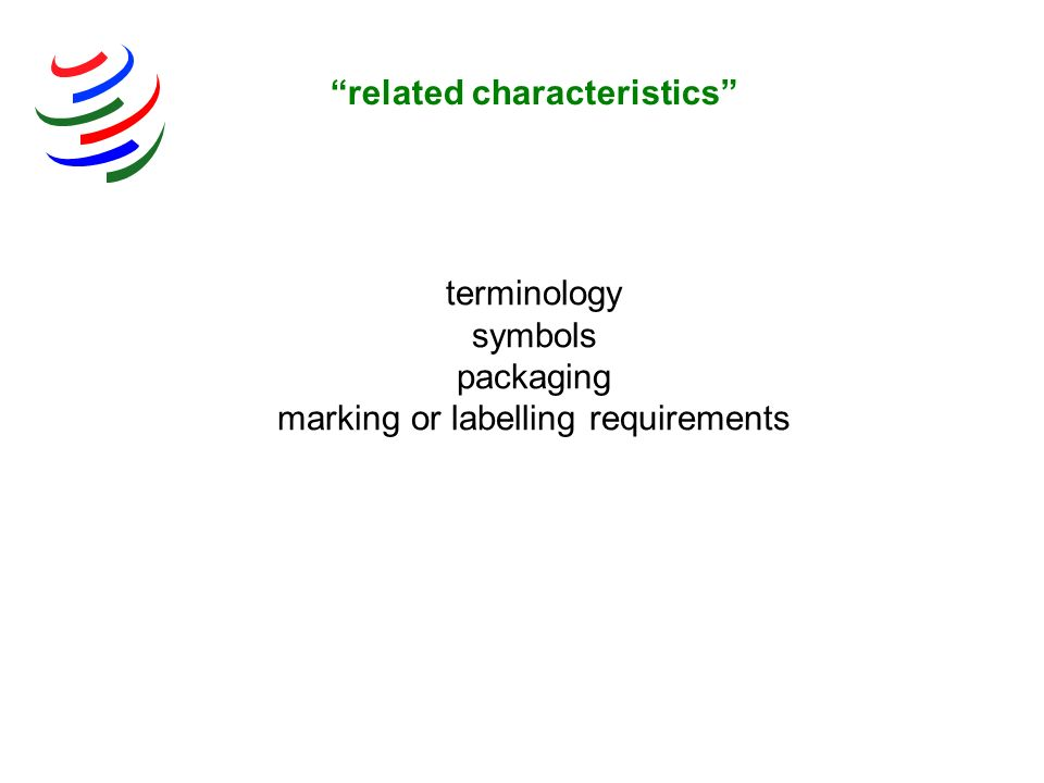 related characteristics